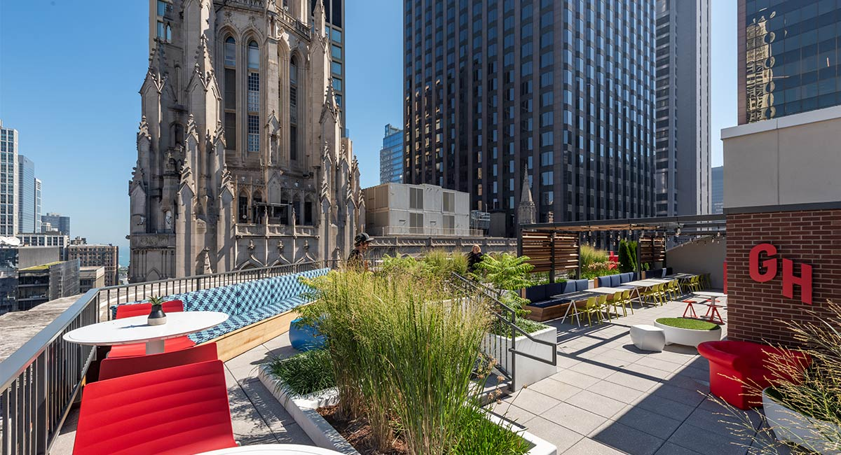 Grubhub Headquarters Roof Deck Architecture And Design Shive Hattery