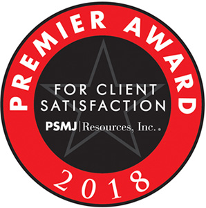 PSMJ Client Satisfaction Premier Award 2018