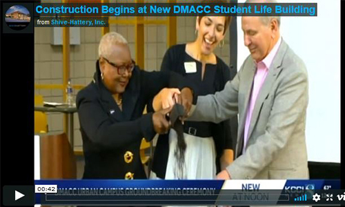 Construction Begins at New DMACC Student Life Building