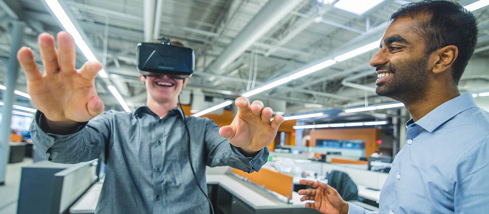 Staff with Virtual Reality