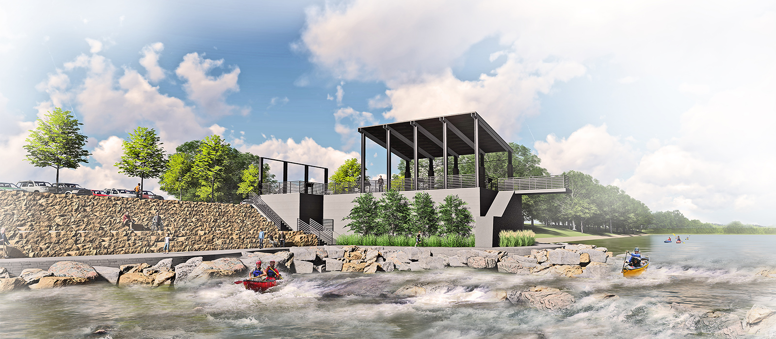 Landscape Architecture Waters Trail Concept