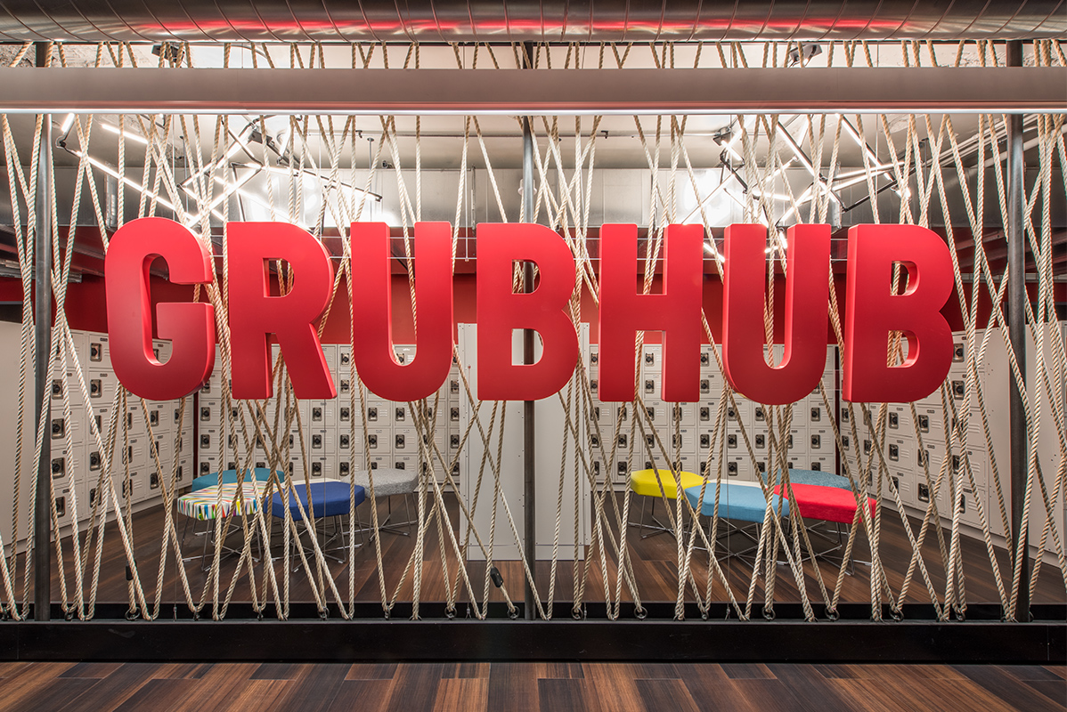Grubhub Headquarters - Branded Environment