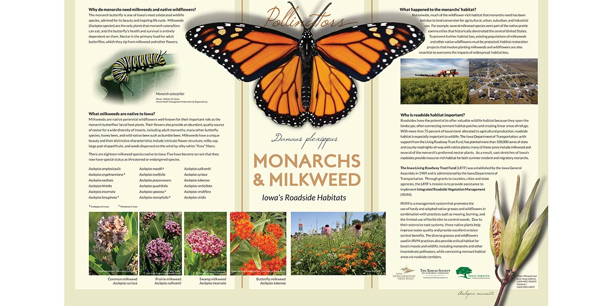 Iowa Living Roadway Trust Fund - Pollinator Poster Series Wins Two ASLA Awards
